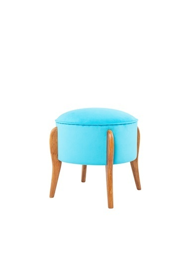 Ze10 Design Lockett Puf Turkuaz Turkuaz